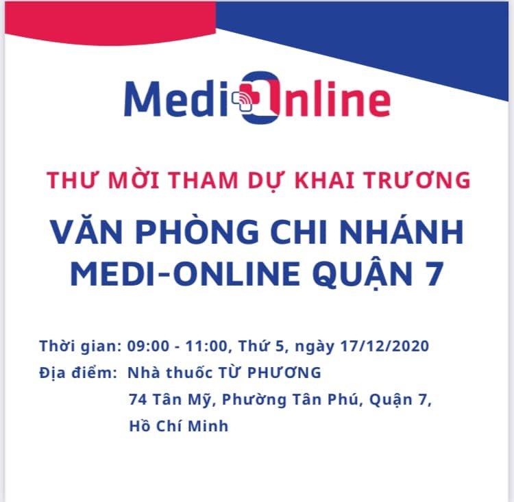 MEDI – ONLINE KHAI TRƯƠNG VĂN PHÒNG CHI NHÁNH QUẬN 07